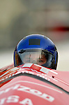 18 November 2005: Sara Sprung pilots USA 4 to a 13th place finish at the 2005 FIBT AIT World Cup Women's Bobsleigh Tour at the Verizon Sports Complex, in Lake Placid, NY. Mandatory Photo Credit: Ed Wolfstein.
