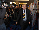 Gordon Strachan is appointed as the new Scotland manager as he walks in to Hampden.