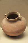 A clay cooking pot, 1st century BC-1st century AD, found at the Temple Mount excavations, Jerusalem, on display at the Hecht Museum, the University of Haifa