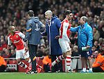 Arsenal's Olivier Giroud gets substituted after a poor performance<br /> <br /> Champions League - Arsenal  vs AS Monaco  - Emirates Stadium - England - 25th February 2015 - Picture David Klein/Sportimage