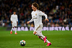Luka Modric of Real Madrid during La Liga match between Real Madrid and RC Celta de Vigo at Santiago Bernabeu Stadium in Madrid, Spain. February 16, 2020. (ALTERPHOTOS/A. Perez Meca)