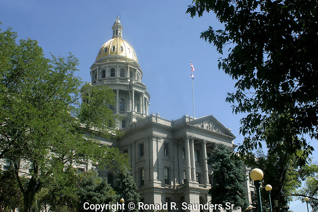 The Colorado State Capitol Building, located at 200 East Colfax Avenue in Denver, Colorado, is the home of the Colorado General Assembly and the offices of the Governor of Colorado and Lieutenant Governor of Colorado. The building is intentionally reminiscent of the United States Capitol. Designed by Elijah E. Myers, it was constructed in the 1890s from Colorado white granite, and opened for use in November 1894. The distinctive gold dome consists of real gold leaf, first added in 1908, commemorating the Colorado Gold Rush. The building is part of Denver's Civic Center area.