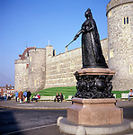 Statue of Queen Victoria, Windsor Castle, Berkshire, England