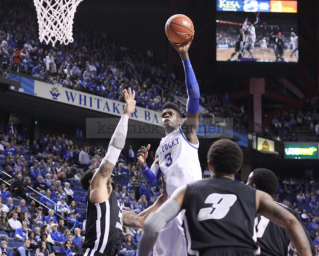 UK freshman forward Nerlens Noel shoots the ball against LIU at Rupp Arena on Friday, Nov. 23, 2012. Photo by Scott Hannigan | Staff