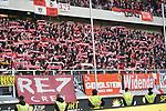 10.04.2019, Schauinsland-Reisen-Arena, Duisburg, GER, 2. FBL, MSV Duisburg vs. 1. FC Koeln,<br />  <br /> DFL regulations prohibit any use of photographs as image sequences and/or quasi-video<br /> <br /> im Bild / picture shows: <br /> Fans Koeln<br /> <br /> Foto © nordphoto / Meuter