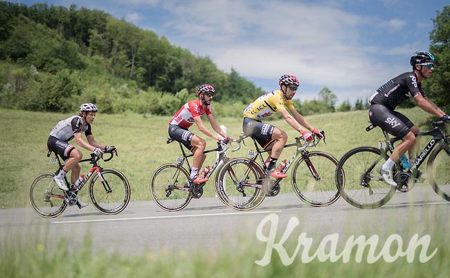 yellow jersey / GC leader Thomas de Gendt (BEL/Lotto-Soudal) <br /> <br /> Stage 6: Le parc des oiseaux/Villars-Les-Dombes &rsaquo; La Motte-Servolex (147km)<br /> 69th Crit&eacute;rium du Dauphin&eacute; 2017