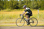 Hammonasset State Beach Park, CT. Man cycling.