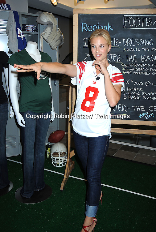 """Elisabeth Hasselbeck, co-host of ABC's """"The View""""  hosting  The Belly Bowl for Reebok's NFL Maternity Tee with A Pea in the Pod at Destination Maternity in New York City on September 22, 2010."""