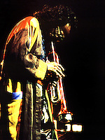 Miles Davis, playing in Coliseu do Porto, Porto, in 1991.