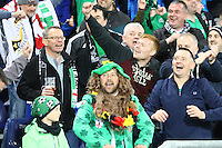 Nordirische Fans feiern - 11.10.2016: Deutschland vs. Nordirland, HDI Arena Hannover, WM-Qualifikation Spiel 3