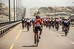 Charles Bradley Huff (USA) Rally Cycling during Stage 3 of the 2018 Tour of Oman running 179.5km from German University of Technology to Wadi Dayqah Dam. 15th February 2018.<br /> Picture: ASO/Muscat Municipality/Kare Dehlie Thorstad | Cyclefile<br /> <br /> <br /> All photos usage must carry mandatory copyright credit (&copy; Cyclefile | ASO/Muscat Municipality/Kare Dehlie Thorstad)