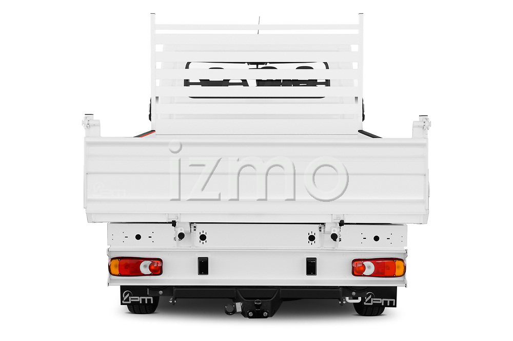 Straight rear view of 2019 Citroen Jumper - 4 Door Chassis Cab Rear View  stock images