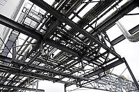 Nederland  Eindhoven 2015 10 25. Buizen van een vormalige Philips fabriek bij Strijp-S