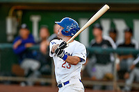 Brock Carpenter (23) of the Ogden Raptors at bat against the Grand Junction Rockies in Pioneer League action at Lindquist Field on June 20, 2016 in Ogden, Utah. The Rockies defeated the Raptors 5-2. (Stephen Smith/Four Seam Images)
