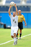 2 October 2011:  FIU midfielder/forward Nicholas Chase (8) returns the ball to play in the first half as the FIU Golden Panthers defeated the University of Kentucky Wildcats, 1-0 in overtime, at University Park Stadium in Miami, Florida.