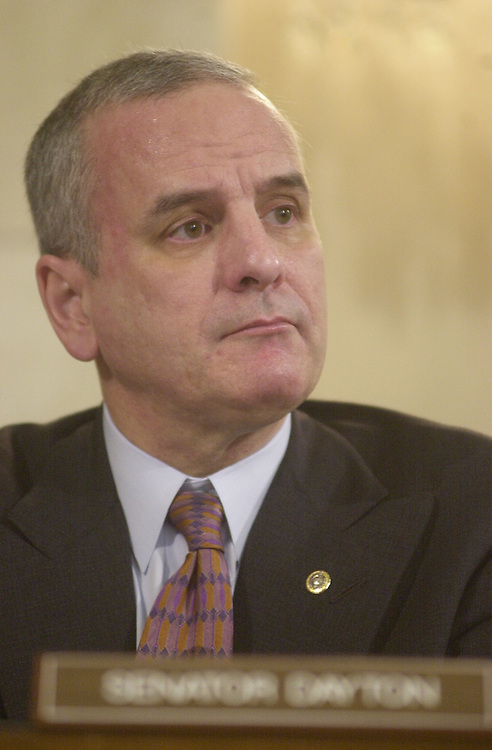1Dayton031401 -- Sen. Mark Dayton, D-MN, at the Committee on Rules and Administration Hearing on Election Reform.