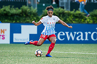 Boston, MA - Friday July 07, 2017: Samantha Johnson during a regular season National Women's Soccer League (NWSL) match between the Boston Breakers and the Chicago Red Stars at Jordan Field.