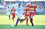 2018-07-14 / Voetbal / Seizoen 2018-2019 / FC Kontich - KFCO Beerschot Wilrijk / Octavio Merlo (l. B-W) met Glen De Cock<br /> <br /> ,Foto: Mpics