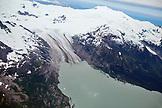 USA, Alaska, Homer, a glacier spills into the icy Gulf of Alaska, Kenai Peninsula