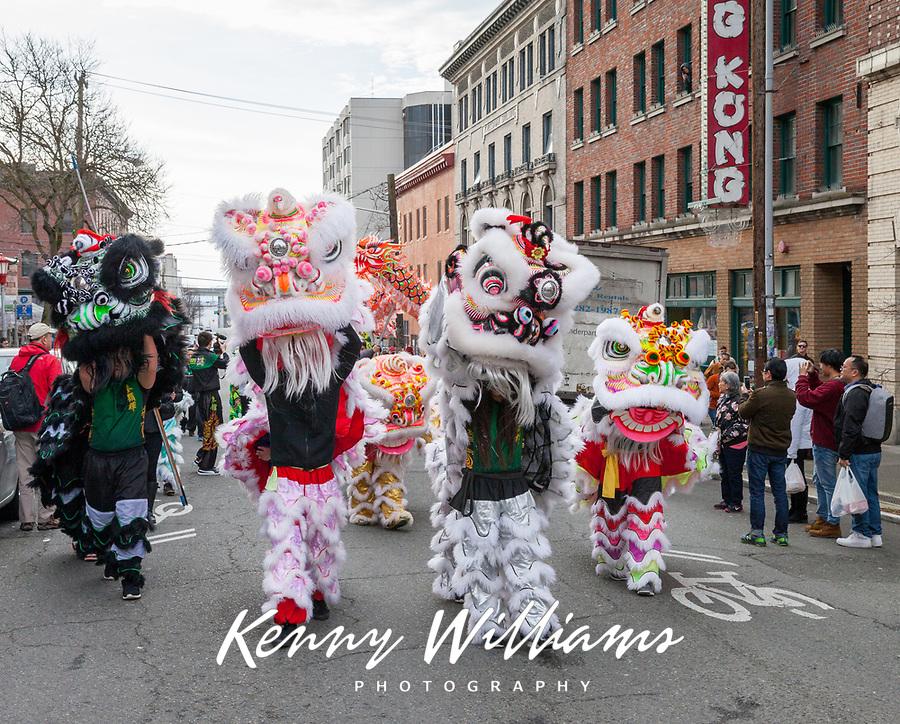 Chinese New Year, Chinatown, Seattle, WA, USA.