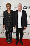 Actor Ron Perlman with wife Opal Stone arriving at the U.S. premiere of the movie Disobedience, on April 22 2018, during the Tribeca Film Festival in New York City.