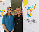 18/9/2013  Pictured at the launch of Clare's Wish Foundation was founder Kevin Clancy, Doon, Co. Limerick a brother of Clare and Elizabeth Hickey, Hospitality & Events Manager, Thomond Park.