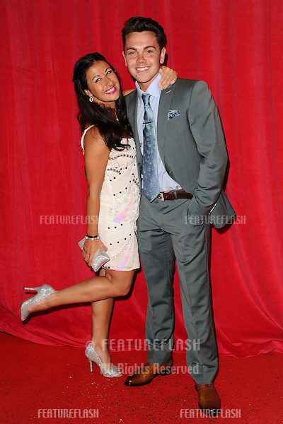 Hayley Tamaddon, Ray Quinn arriving for the 2014 British Soap Awards, at the Hackney Empire, London. 24/05/2014 Picture by: Steve Vas / Featureflash