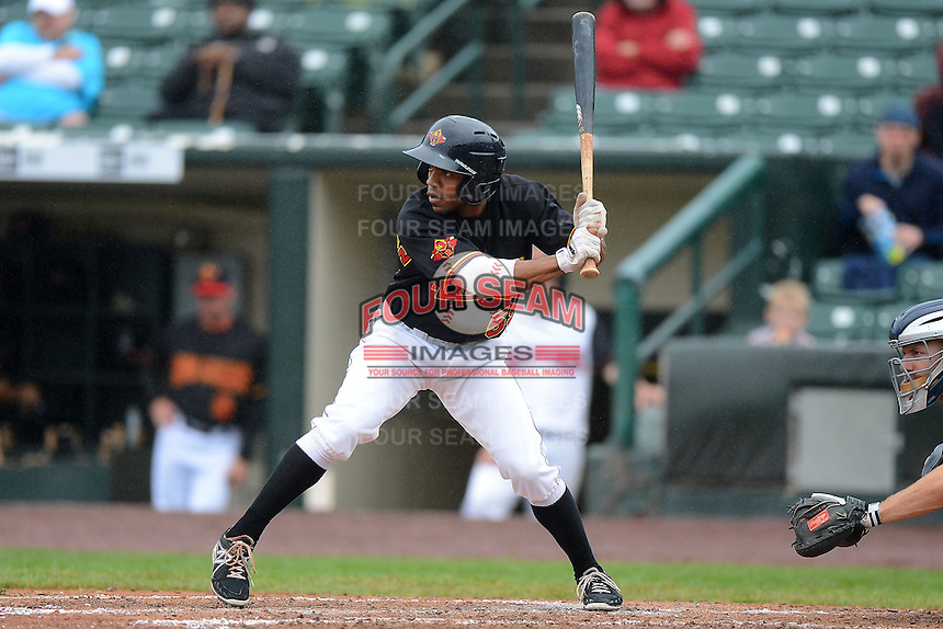 Rochester Red Wings outfielder Antoan Richardson #59 during a game against the Toledo Mudhens on June 11, 2013 at Frontier Field in Rochester, New York.  Toledo defeated Rochester 9-5.  (Mike Janes/Four Seam Images)