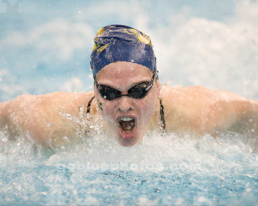 The University of Michigan women's swimming and diving team beat Northwestern (169-126) and Notre Dame (180-115) at Canham Natatorium in Ann Arbor, Mich., on January 14, 2012.