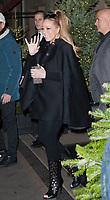 December 9 2017, PARIS FRANCE<br /> Singer Maria Carey leaves the Plaza Athenee<br /> Hotel on Avenue Montaigne Paris.