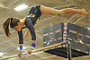 Gillian Murphy of Massapequa performs on the uneven bars during the eight-team Cartwheel for a Cure gymnastics meet at Cold Spring Harbor High School on Monday, Jan. 16, 2017.