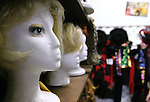 "Wigs on display at ""Dress the Part Costume Shop"" in London, Ky. on Friday, Oct. 26, 2012. ..Photo by Amelia Orwick"