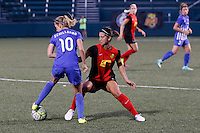 Rochester, NY - Friday June 24, 2016: Boston Breakers midfielder Louise Schillgard (10), Western New York Flash midfielder Abby Erceg (6) during a regular season National Women's Soccer League (NWSL) match between the Western New York Flash and the Boston Breakers at Rochester Rhinos Stadium.