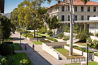 Walkway near the library and Norris Chemistry, Occidental College, July 13, 2018.<br />