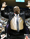 Nevada head coach David Carter reacts on the sidelines of an NCAA men's basketball game against Idaho, in Reno, Nev., on Saturday, Feb. 4, 2012..Photo by Cathleen Allison