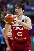 7th September 2017, Fenerbahce Arena, Istanbul, Turkey; FIBA Eurobasket Group D; Latvia versus Turkey; Small Forward Cedi Osman of Turkey performs free throw