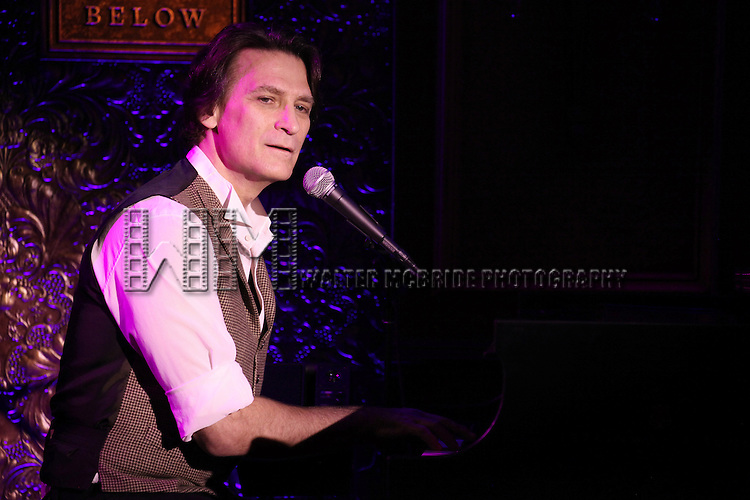 Bob Stillman performing a press preview at 54 Below in New York City on 11/12/2012