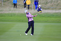 Carlota Ciganda of Team Europe on the 2nd fairway during Day 2 Foursomes at the Solheim Cup 2019, Gleneagles Golf CLub, Auchterarder, Perthshire, Scotland. 14/09/2019.<br /> Picture Thos Caffrey / Golffile.ie<br /> <br /> All photo usage must carry mandatory copyright credit (© Golffile | Thos Caffrey)