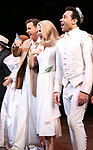 "Will Chase, Kelli O'Hara, Corbin Bleu during the Broadway Opening Night Curtain Call for ""Kiss Me, Kate""  at Studio 54 on March 14, 2019 in New York City."