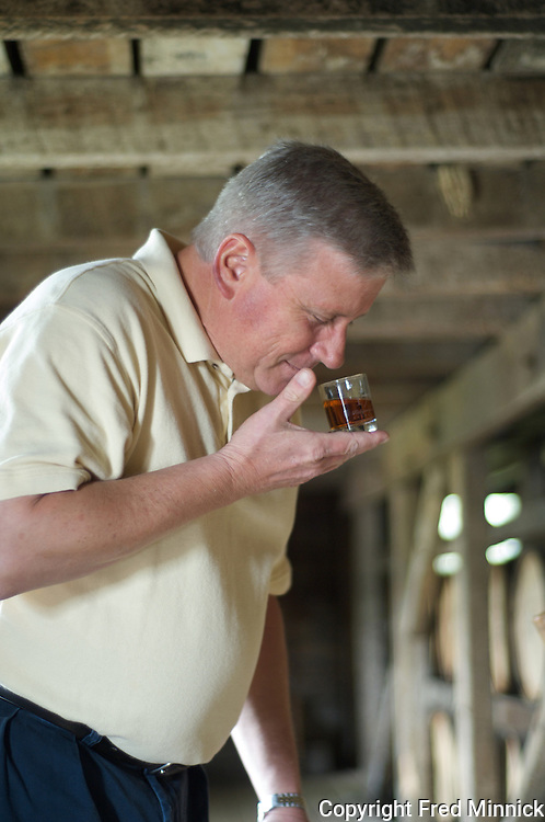 Chief Chemist Ken Pierce of 1792 Ridgemont Reserve Bourbon at the Tom Moore Distillery in Bardstown, Ky.