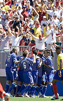 USA celebrates a goal during an International Friendly between Ecuador and the USA at Raymond James Stadium, Tampa, Florida on Sunday, March 25, 2007. The USA won 3-1 behind a hat trick by Landon Donovan.