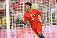Action photo during the match Chile vs Panama, Corresponding to Group -D- America Cup Centenary 2016 at Lincoln Financial Field.<br /> <br /> Foto de accion durante el partido Chile vs Panama, Correspondiente al Grupo -D- de la Copa America Centenario 2016 en el  Lincoln Financial Field, en la foto: Eduardo Vargas de Chile celebra su gol<br /> <br /> <br /> 14/06/2016/MEXSPORT/Osvaldo Aguilar.