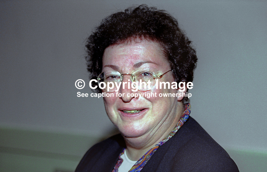 Naomi Chazan, Israeli, politician, academic, taken September 1999 at annual conference, Liberal Democrat Party, UK. 199909050<br /> <br /> Copyright Image from Victor Patterson,<br /> 54 Dorchester Park, <br /> Belfast, UK, BT9 <br /> <br /> t1: +44 28 9066 1296 (from Rep of Ireland 048 90661296)<br /> t2: +44 28 9002 2446 (from Rep of Ireland 048 9002 2446)<br /> <br /> m: +44 7802 353836<br /> <br /> e: victorpatterson@me.com<br /> www.victorpatterson.com<br /> <br /> Please see my Terms and Conditions of Use at www.victorpatterson.com. It is IMPORTANT that you familiarise yourself with them.<br /> <br /> Images used on the Internet must be visibly watermarked i.e. &copy; Victor Patterson<br /> within the body of the image and copyright metadata must not be deleted. Images <br /> used on the Internet have a size restriction of 4kbs and will be chargeable at current<br />  NUJ rates unless agreed otherwise.<br /> <br /> This image is only available for the use of the download recipient i.e. television station, newspaper, magazine, book publisher, etc, and must not be passed on to any third <br /> party. It is also downloaded on condition that each and every usage is notified within 7 days to victorpatterson@me.com<br /> <br /> The right of Victor Patterson to be identified as the author is asserted in accordance with The Copyright Designs And Patents Act (1988). All moral rights are asserted.