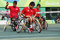 (L-R)<br /> Satoshi Saida,<br /> Shingo Kunieda,<br /> Takuya Miki (JPN),<br /> SEPTEMBER 15, 2016 - Wheelchair Tennis : <br /> Men's Doubles Bronze Medal match<br /> at Olympic Tennis Centre<br /> during the Rio 2016 Paralympic Games in Rio de Janeiro, Brazil.<br /> (Photo by Shingo Ito/AFLO)