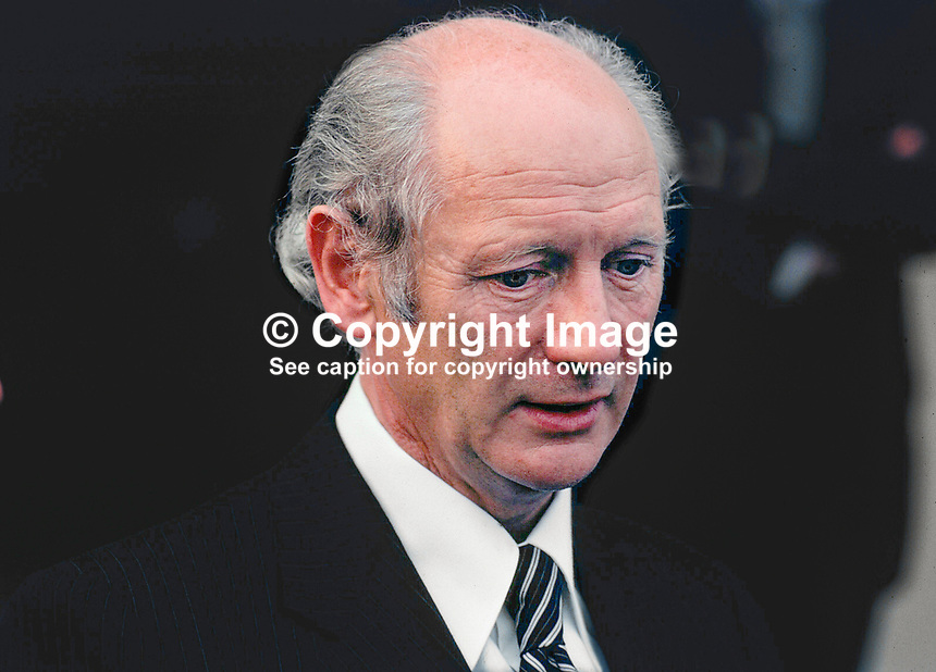 Jack Lynch, An Taoiseach, Prime Minister, Fianna Fail, Rep of Ireland, 195/77, 197707000195.<br /> <br /> Copyright Image from Victor Patterson, 54 Dorchester Park, Belfast, UK, BT9 6RJ<br /> <br /> t1: +44 28 9066 1296 (from Rep of Ireland 048 9066 1296)<br /> t2: +44 28 9002 2446 (from Rep of Ireland 048 9002 2446)<br /> m: +44 7802 353836<br /> <br /> e1: victorpatterson@me.com<br /> e2: victorpatterson@gmail.com<br /> <br /> The use of my copyright images is subject to my Terms &amp; Conditions.<br /> <br /> It is IMPORTANT that you familiarise yourself with them. They are available on my website at www.victorpatterson.com.<br /> <br /> None of my copyright images may be used on a website unless they are visibly watermarked, i.e. &copy; Victor Patterson within the body of the visible image. Metadata denoting my copyright must NOT be deleted. <br /> <br /> Web use (maximum size - 300 kb) is extra at currently recommended NUJ rates.