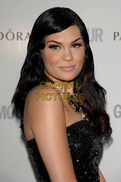 Jessie J (Jessica Ellen Cornish).Glamour Women Of The Year Awards held at Berkeley Square Gardens, London, England..June 7th 2011..inside arrivals portrait headshot  make-up eyelashes false side beauty  black sequined sequin  .CAP/PL.©Phil Loftus/Capital Pictures.