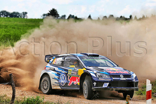 02.07.2016. Mikolajki, Poland. WRC Rally of Poland, stages 12-17.  Andreas Mikkelsen (NOR) and Anders Jaeger (NOR) - Volkswagen Polo R WRC