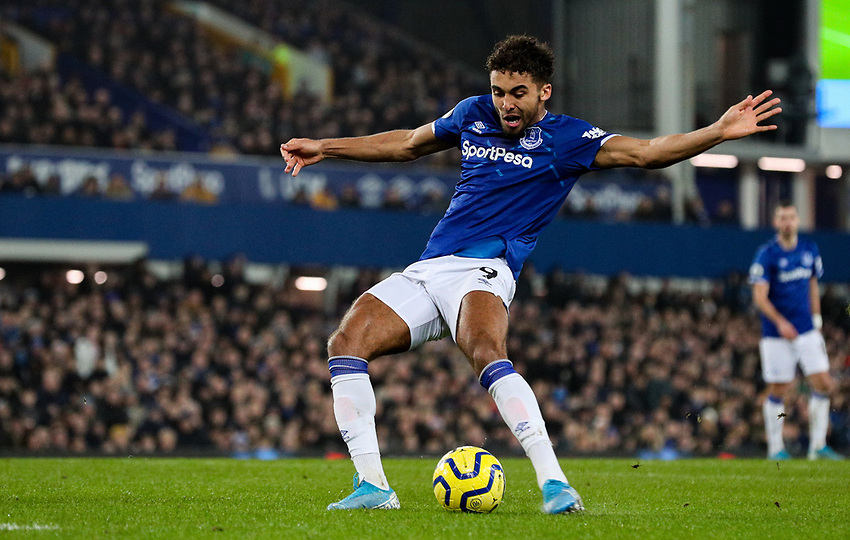 Everton's Dominic Calvert-Lewin scores his side's second goal<br /> <br /> Photographer Alex Dodd/CameraSport<br /> <br /> The Premier League - Everton v Newcastle United  - Tuesday 21st January 2020 - Goodison Park - Liverpool<br /> <br /> World Copyright © 2020 CameraSport. All rights reserved. 43 Linden Ave. Countesthorpe. Leicester. England. LE8 5PG - Tel: +44 (0) 116 277 4147 - admin@camerasport.com - www.camerasport.com
