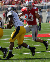 13 October 2007: Ohio State linebacker James Laurinaitis (33)..The Ohio State Buckeyes defeated the Kent State Golden Flashes 48-3 on  October 13, 2007 at Ohio Stadium, Columbus, Ohio.