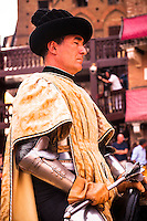 One of the captains during the parade of Il Palio